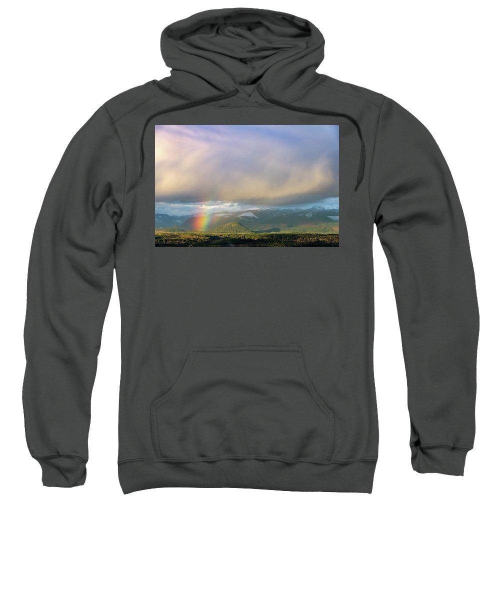 Rainbow Sweatshirt featuring the digital art Short Rainbow by Verilux Photography