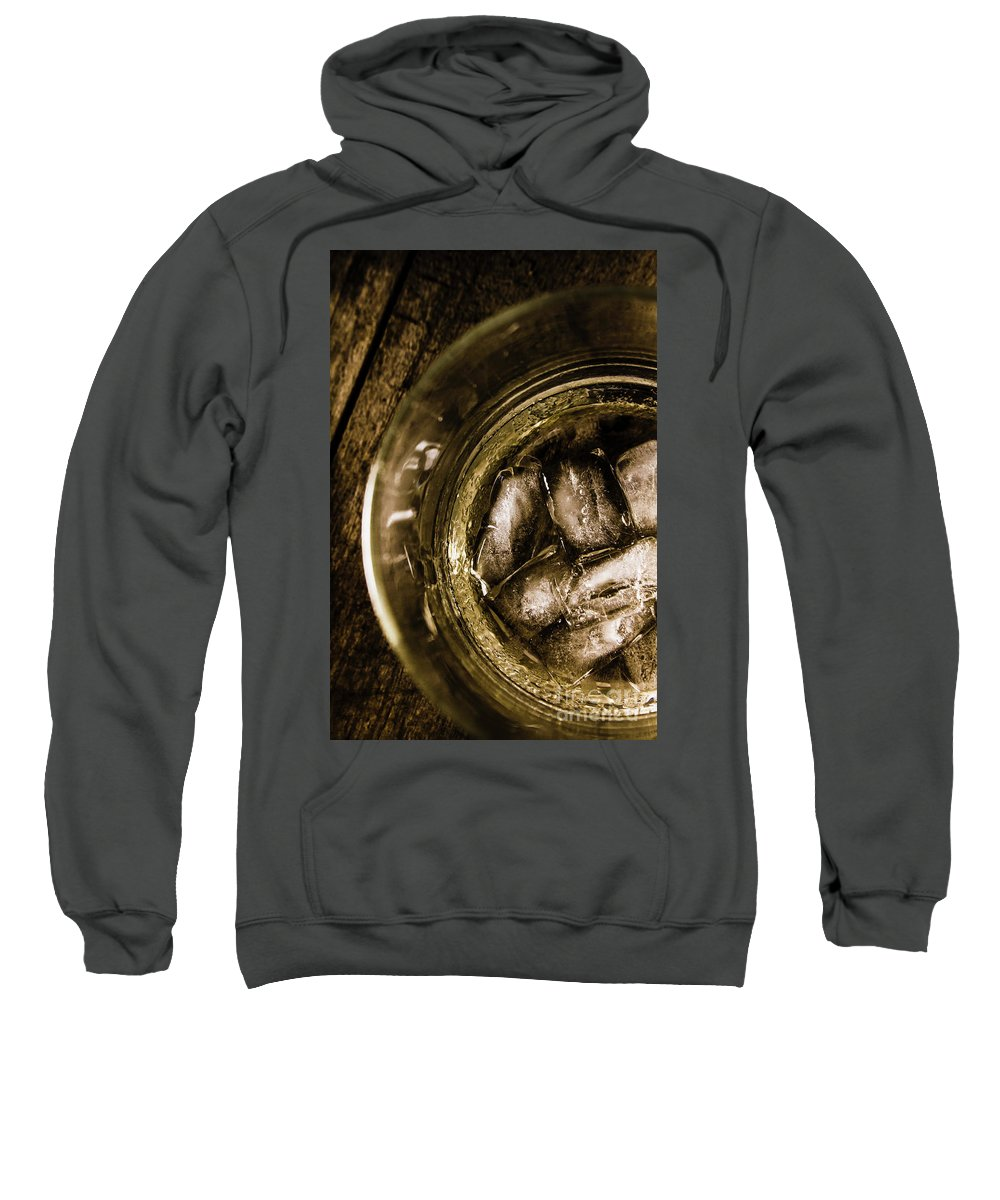 Glass Sweatshirt featuring the photograph Shot Of Whisky On The Rocks by Jorgo Photography - Wall Art Gallery
