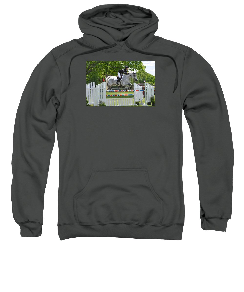 Arabian Sweatshirt featuring the photograph Show Jumper by Catherine Easton