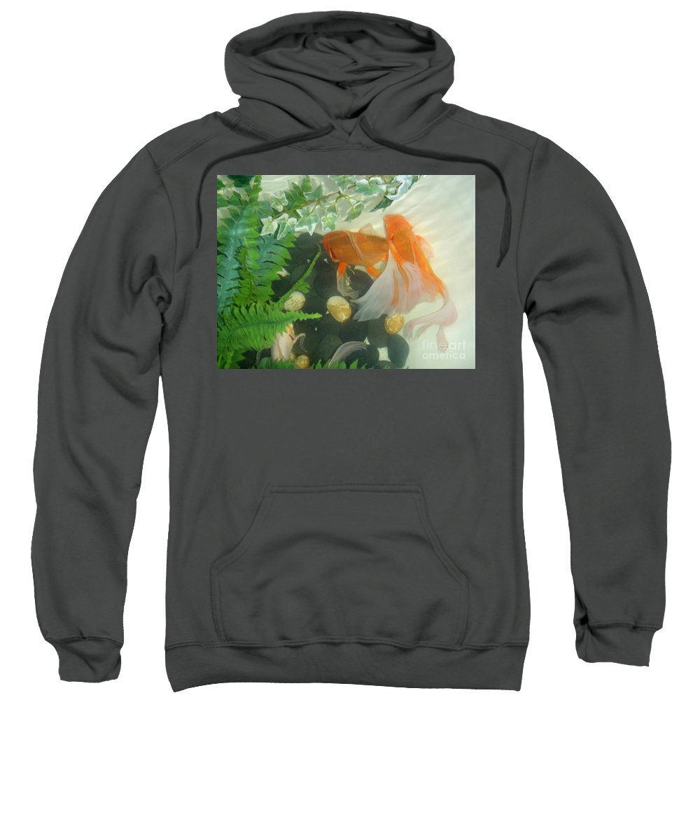Orange Sweatshirt featuring the photograph Siamese Fighting Fish 2 by Mary Deal