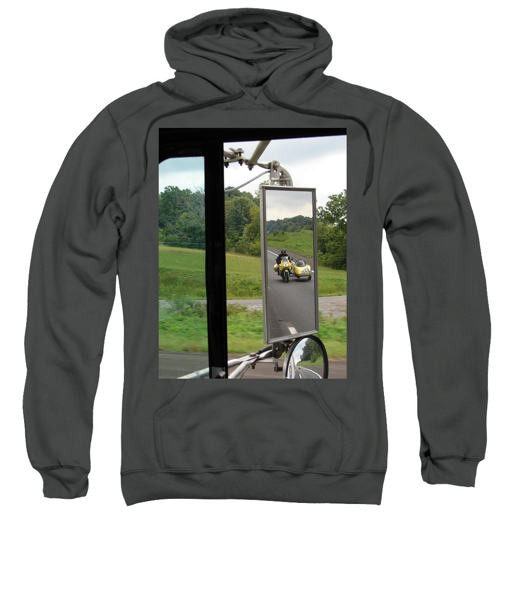 Truck Sweatshirt featuring the photograph Side Car Framed by J R  Seymour