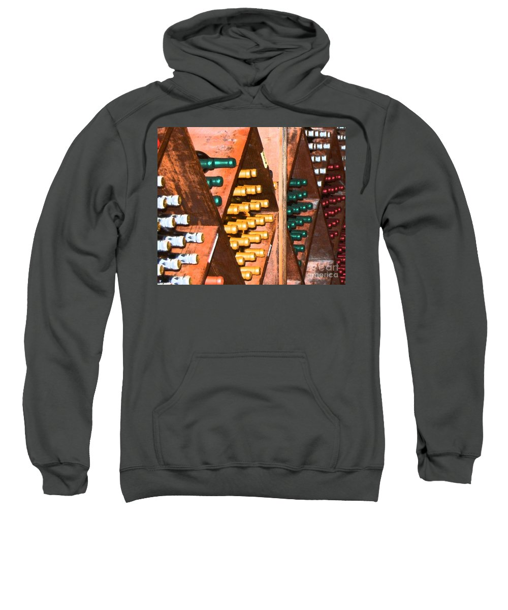 Wine Sweatshirt featuring the photograph Sideways by Debbi Granruth
