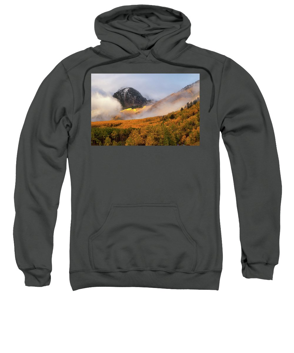 Colorado Sweatshirt featuring the photograph Siever's Mountain by Steve Stuller