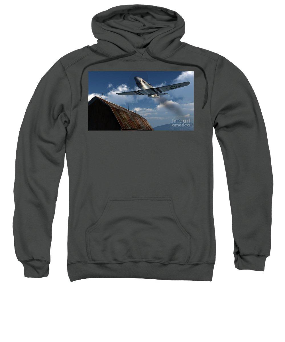 Aviation Sweatshirt featuring the digital art Sightseeing by Richard Rizzo