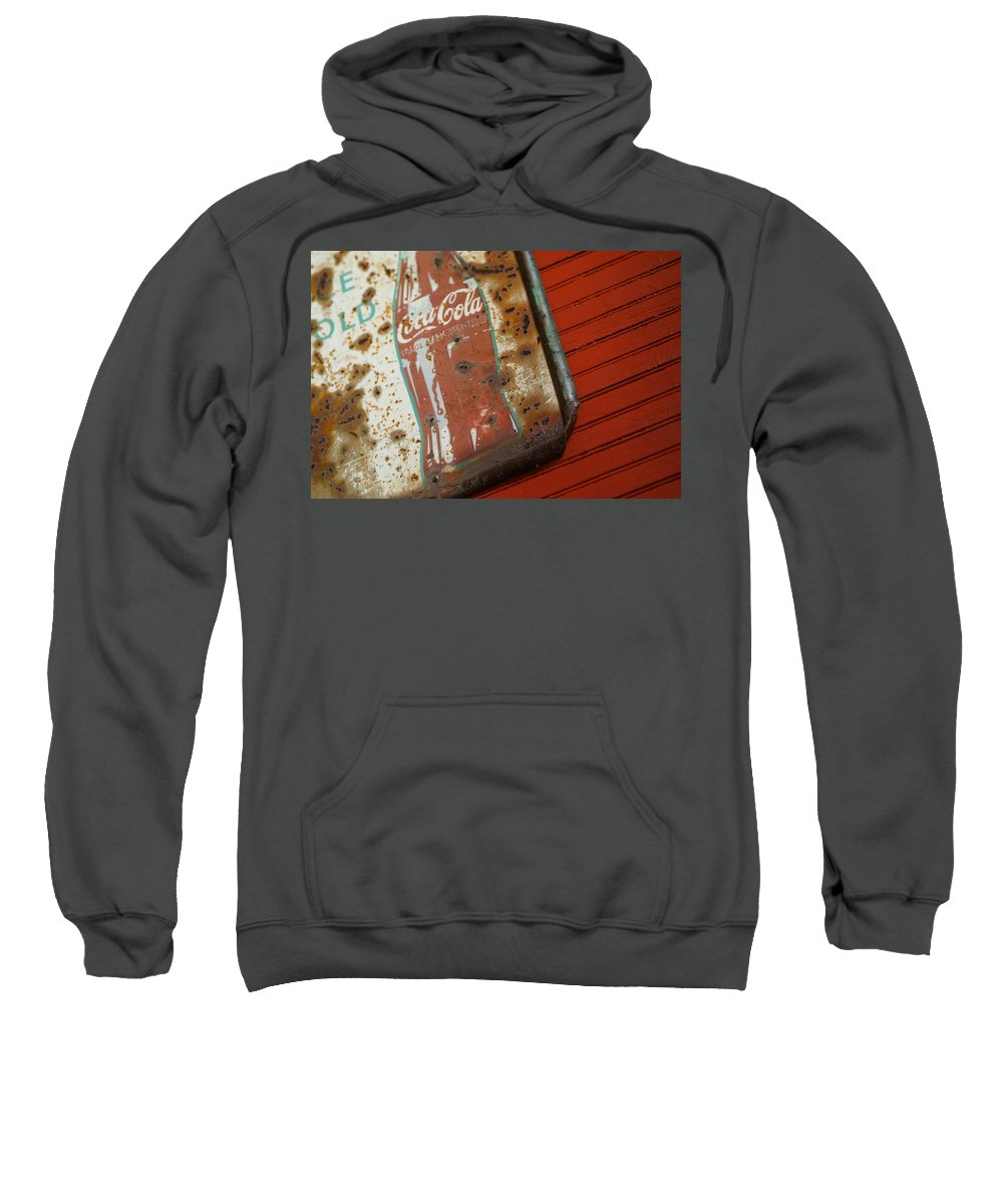 Sign Sweatshirt featuring the photograph Sign Of The Times by Michael McGowan