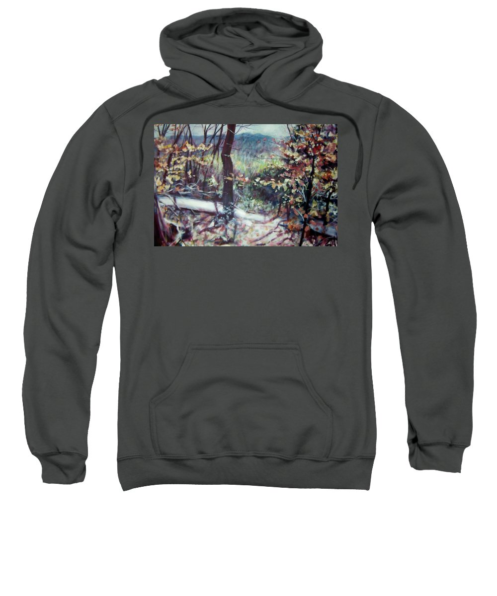 Landscape Sweatshirt featuring the painting Signs Of Spring by Sheila Holland