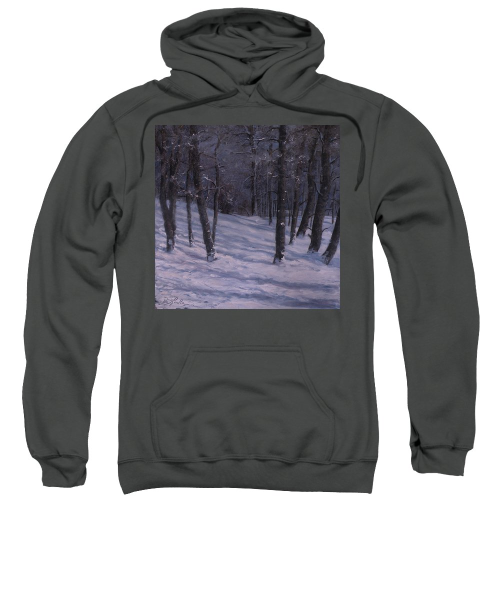 Western Art Sweatshirt featuring the painting Silence by Mia DeLode