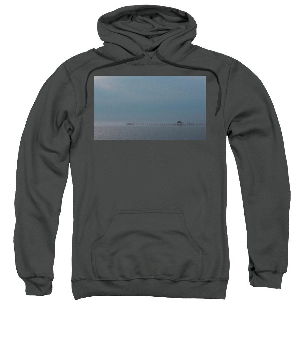 Fog Sweatshirt featuring the photograph Silent Mist by Paige Brown