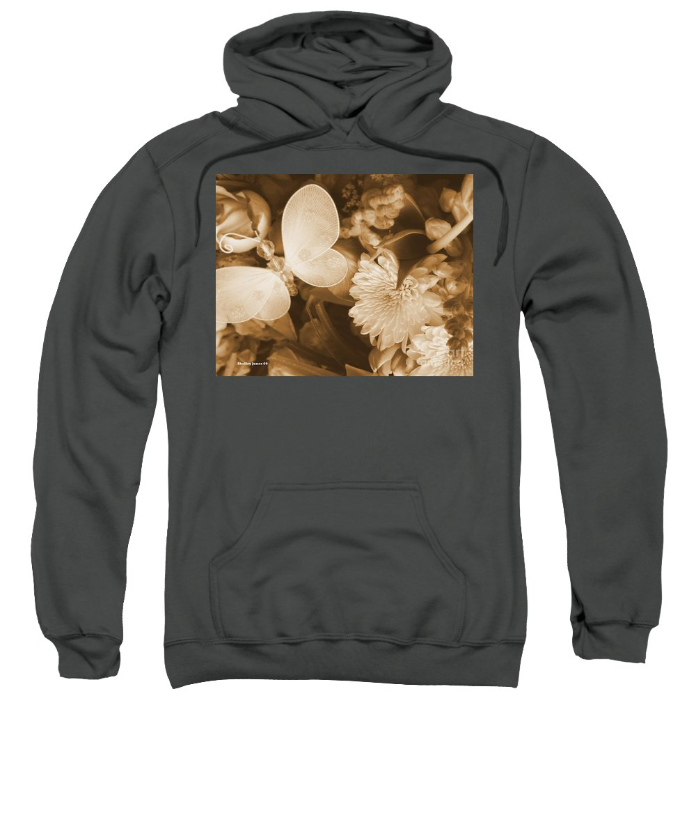 Photography Enhanced Sweatshirt featuring the photograph Silent Transformation Of Existence by Shelley Jones