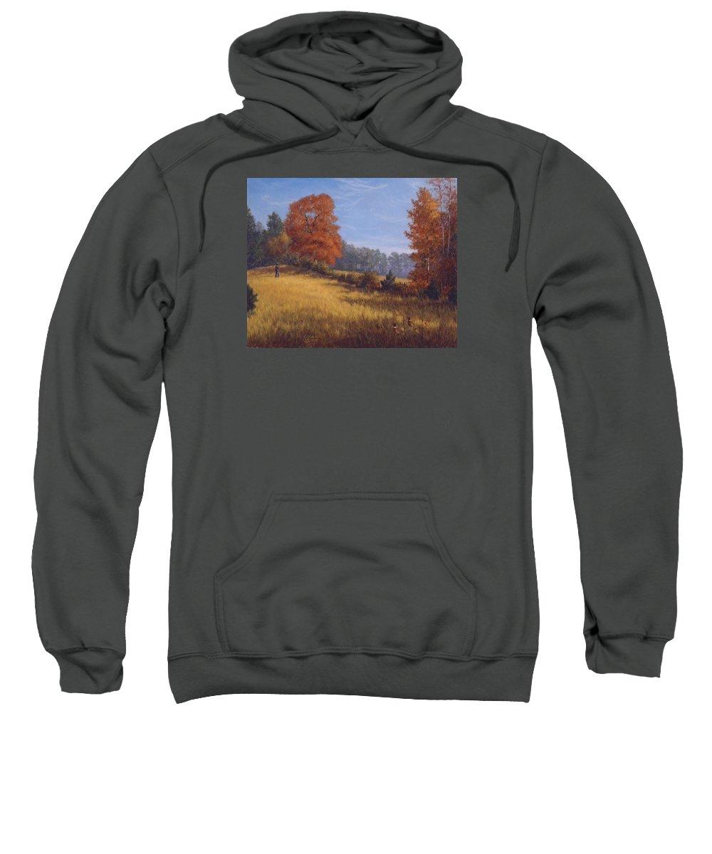 Landscape Sweatshirt featuring the painting Silent Watch by Earl Mott
