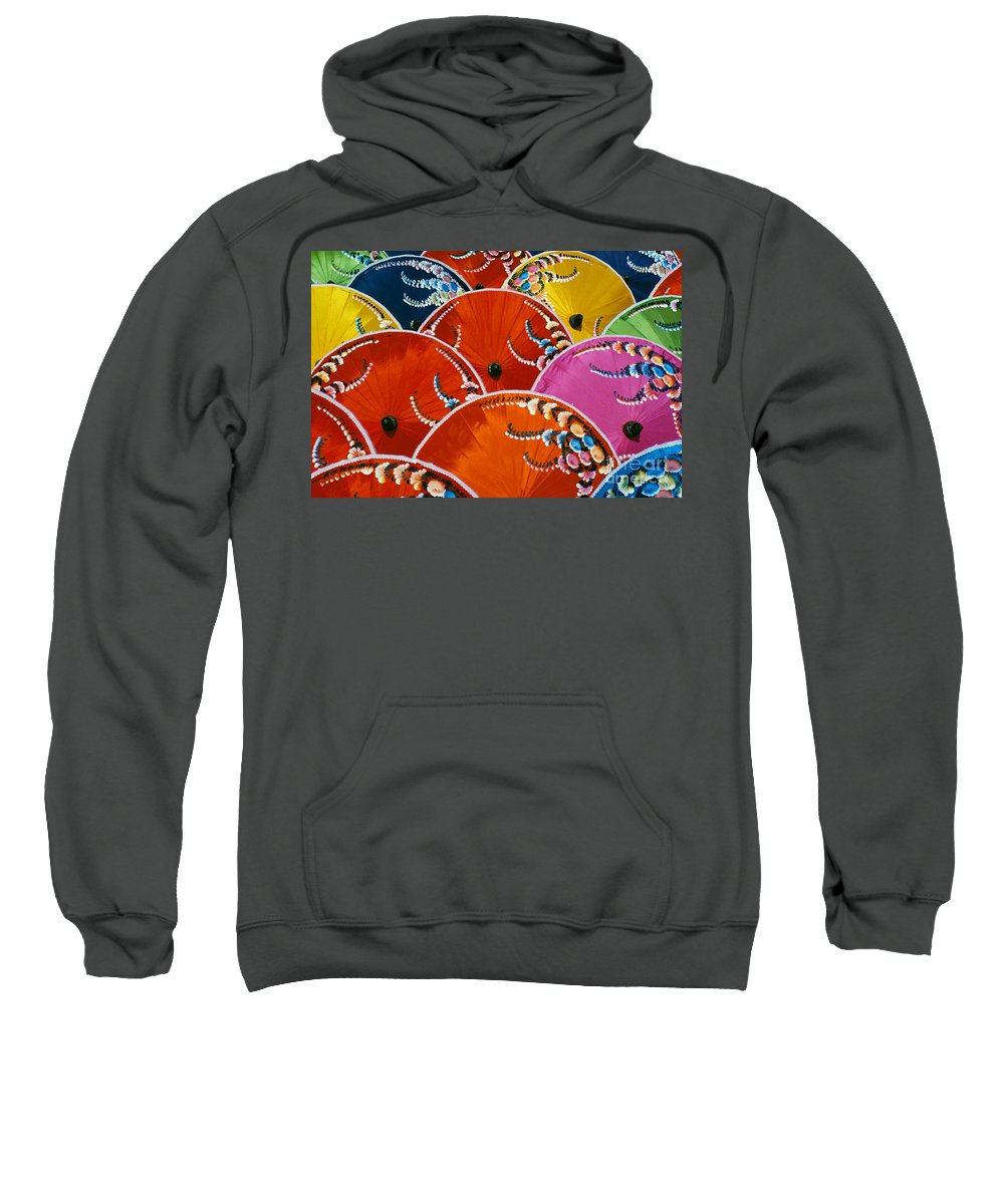 Art Sweatshirt featuring the photograph Silk Umbrella Factory by Gloria & Richard Maschmeyer - Printscapes