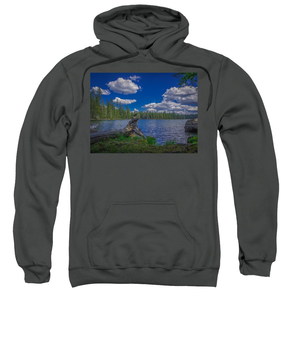 Beautiful Sweatshirt featuring the photograph Silver Lake by Michele James