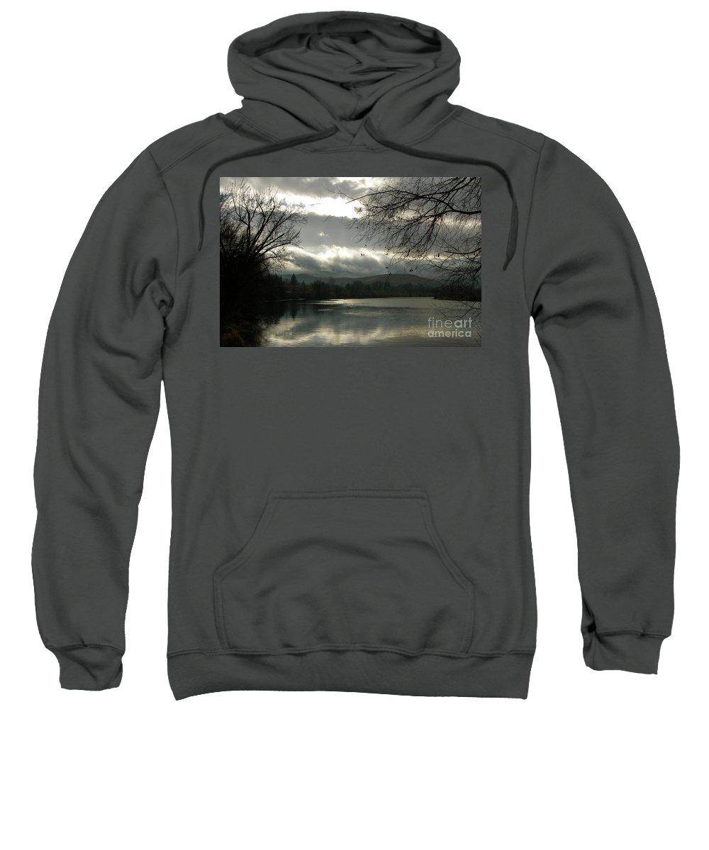 Prosser Sweatshirt featuring the photograph Silver River by Carol Groenen