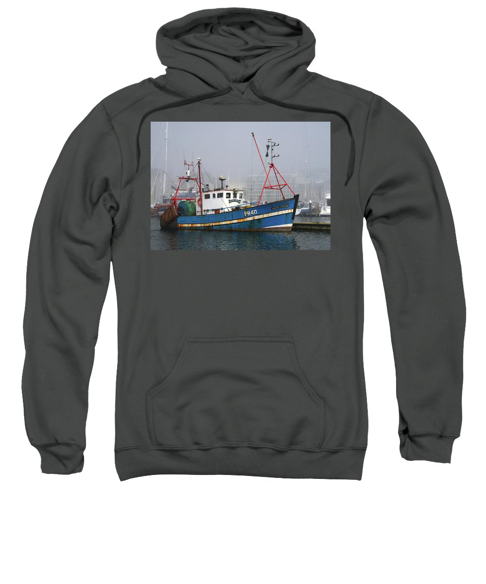 Trawler Sweatshirt featuring the photograph Silver Stream Ph411 by Chris Day
