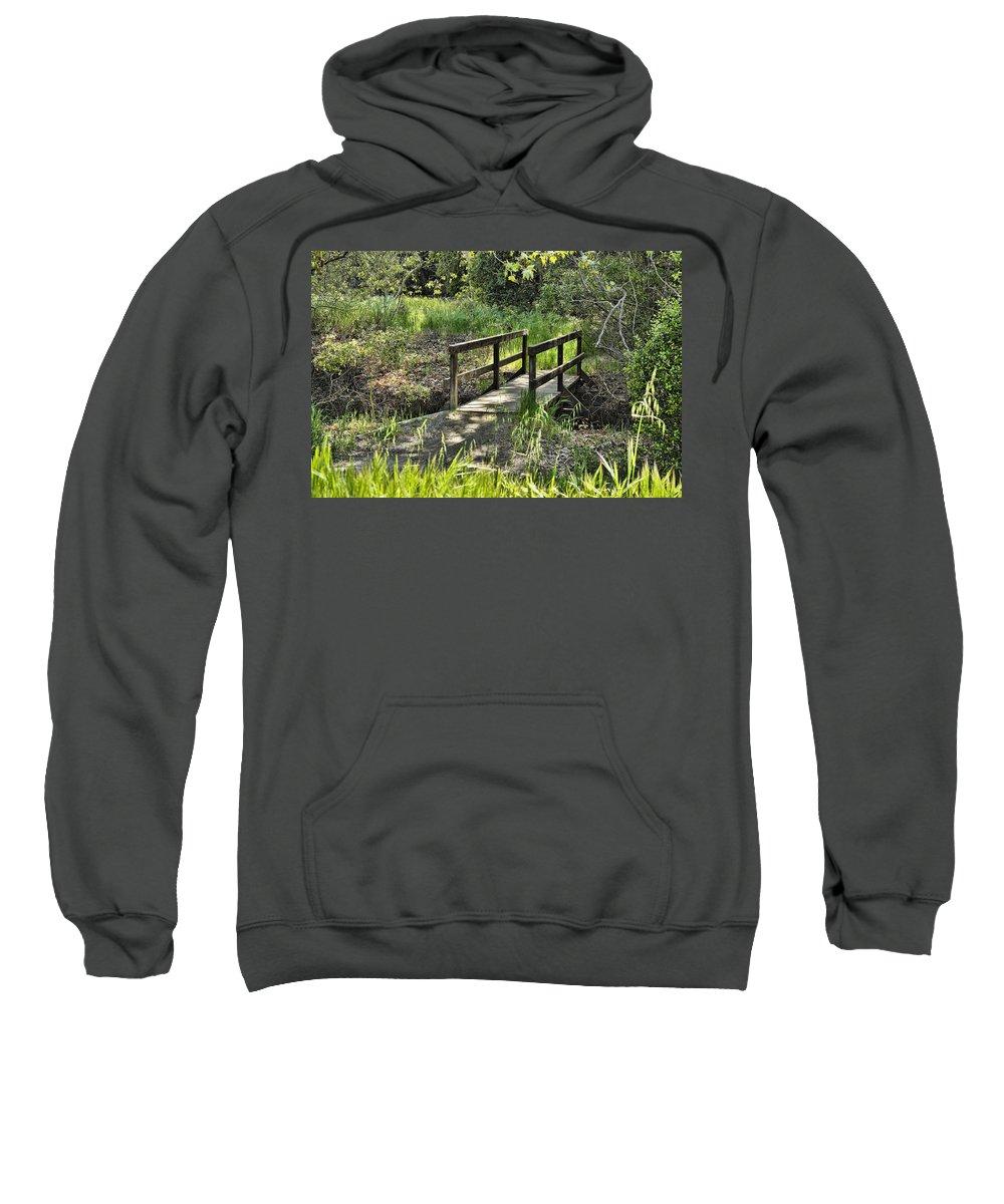Wood Bridge Sweatshirt featuring the photograph Simple Bridge by Kelley King