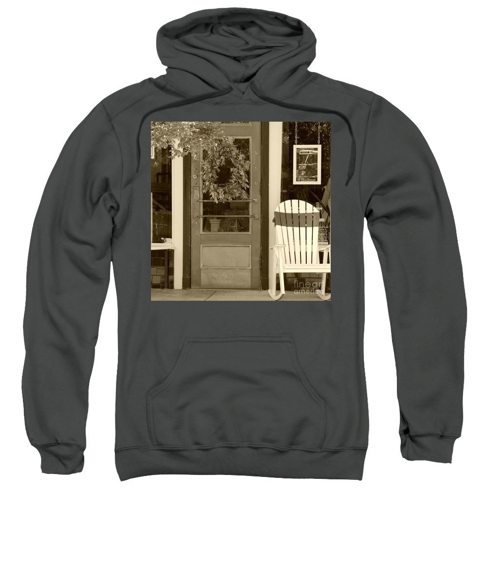 Rocking Chair Sweatshirt featuring the photograph Simple Times by Debbi Granruth