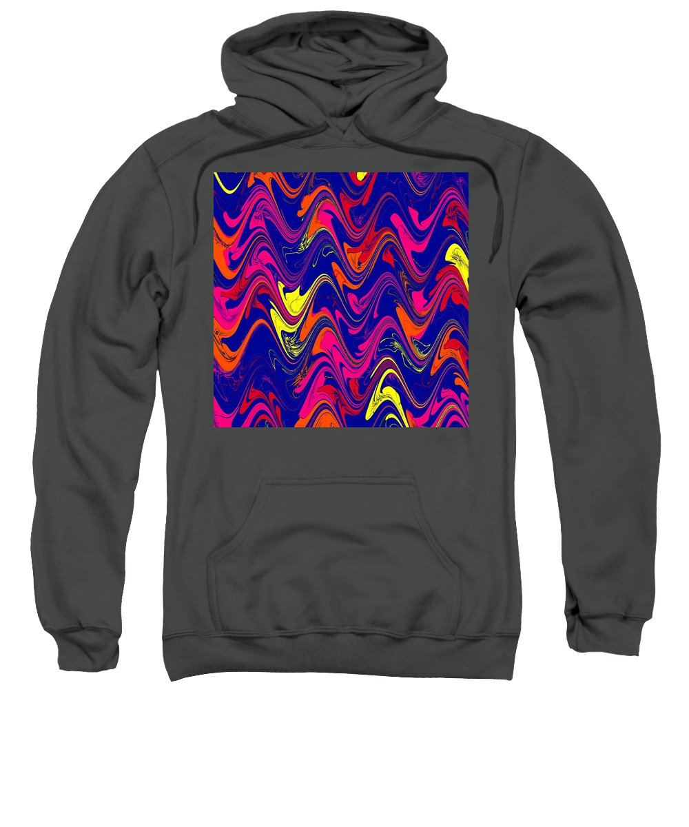 Abstract Sweatshirt featuring the digital art Simply Abstract by Al Pascucci
