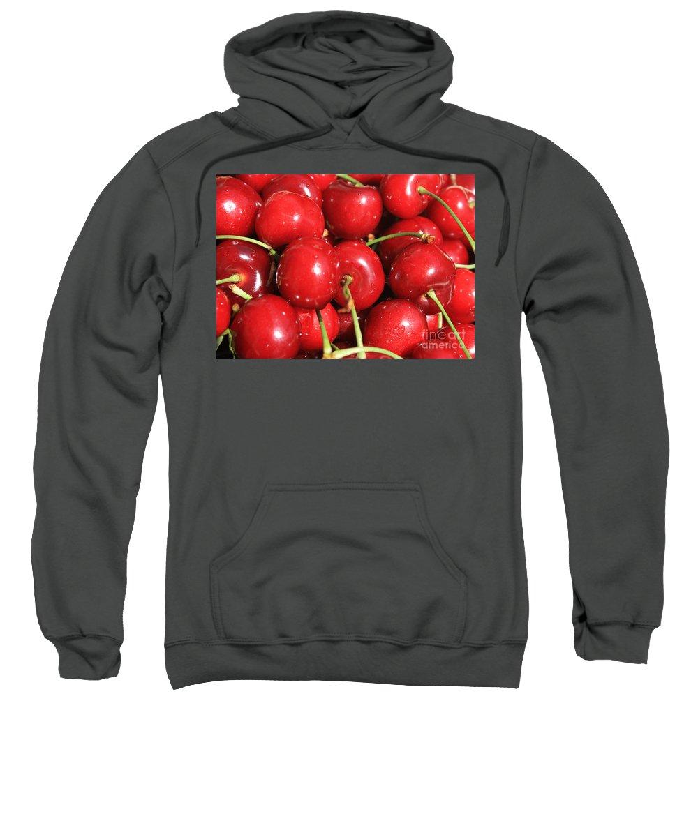 Cherries Sweatshirt featuring the photograph Simply Cherries by Carol Groenen