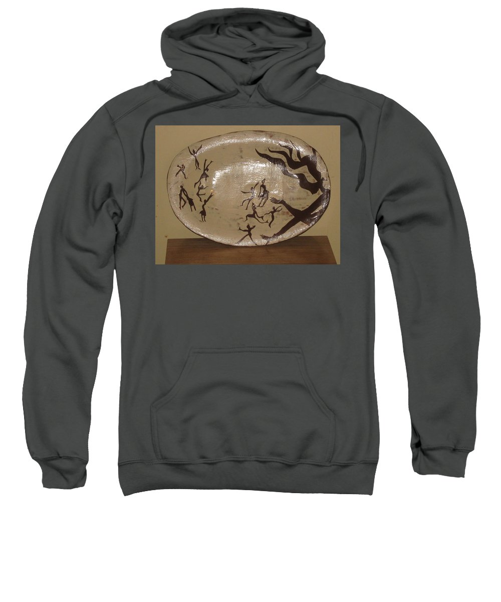Jesus Sweatshirt featuring the ceramic art Simply Dance by Gloria Ssali
