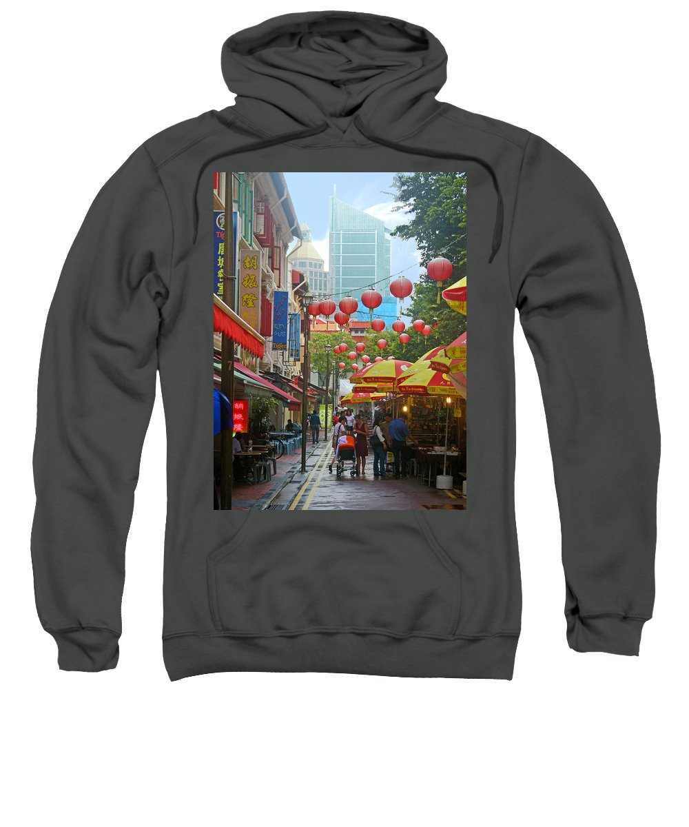 Singapore Sweatshirt featuring the photograph Singapore - Old And New by Mark Sellers