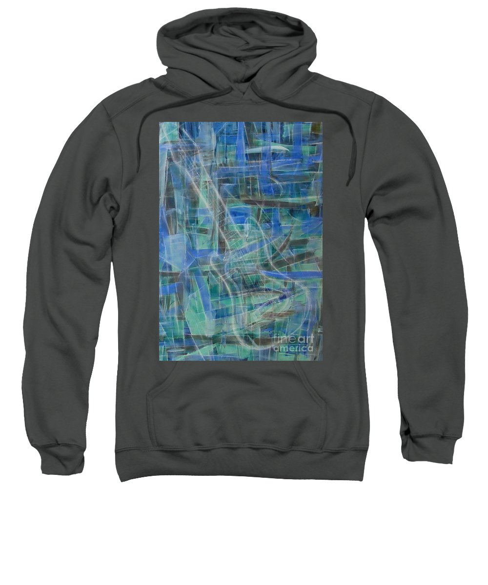 Guitar Sweatshirt featuring the painting Singing The Blues by Dawn Hough Sebaugh