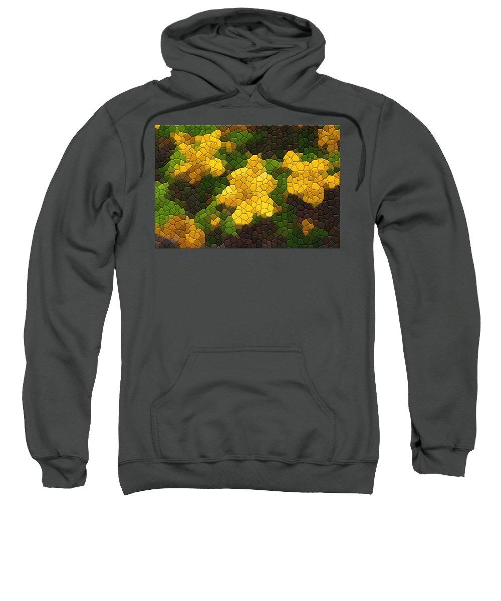 Flower Sweatshirt featuring the photograph Single Kerria by Kathryn Meyer