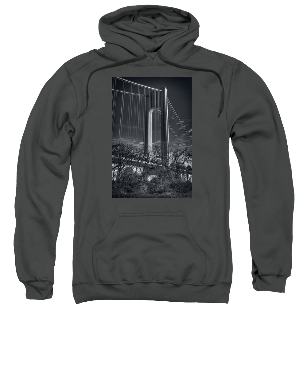B&w Sweatshirt featuring the photograph Single Tower by Mike Deutsch