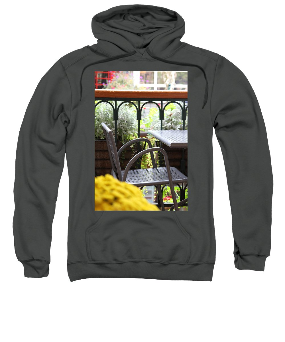Chair Sweatshirt featuring the photograph Sit A While by Laddie Halupa