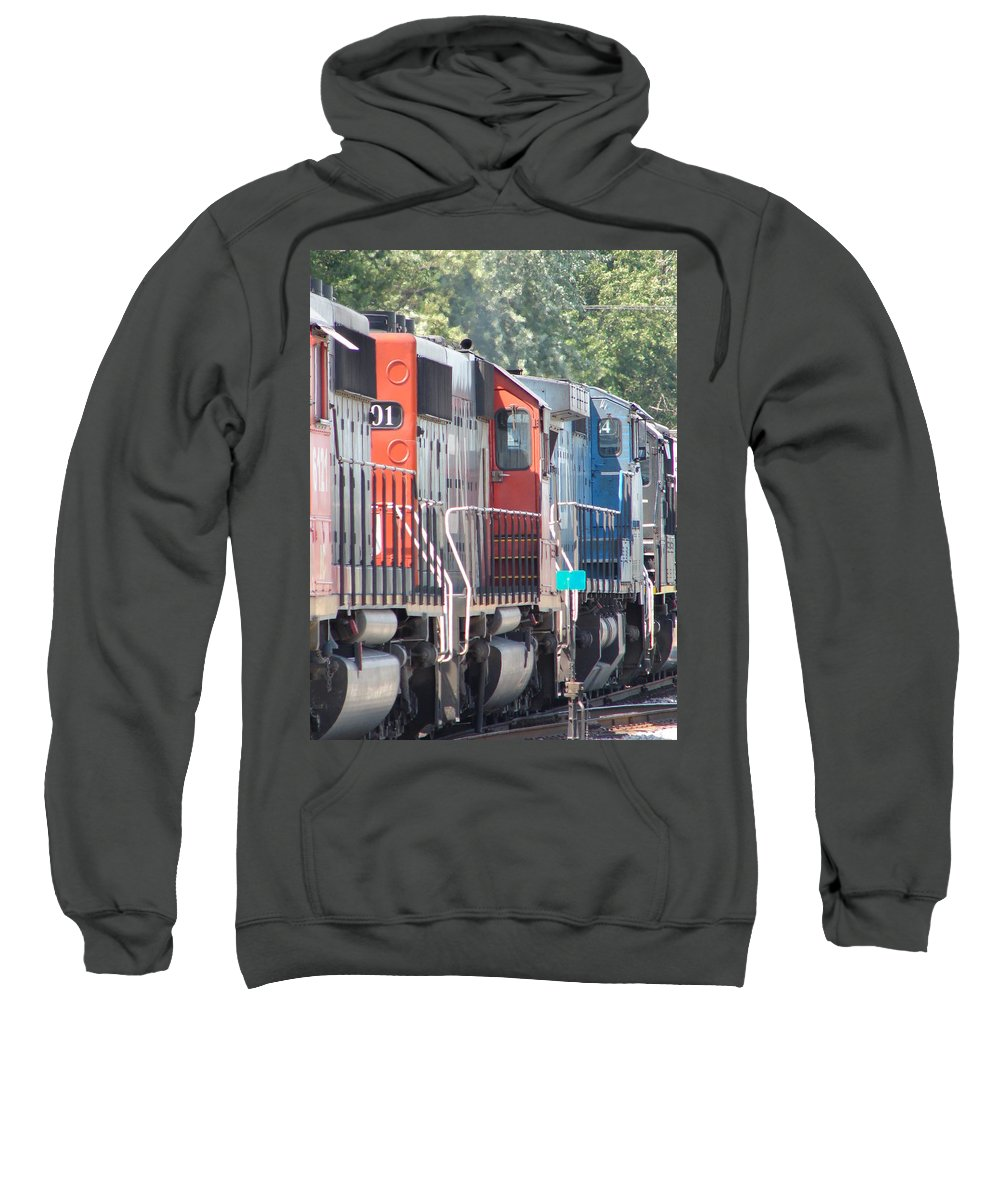 Sweatshirt featuring the photograph Sitting In The Switching Yard by J R  Seymour
