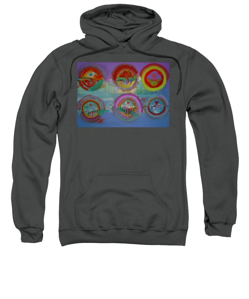 Landscape Sweatshirt featuring the painting Six Visions Of Heaven by Charles Stuart