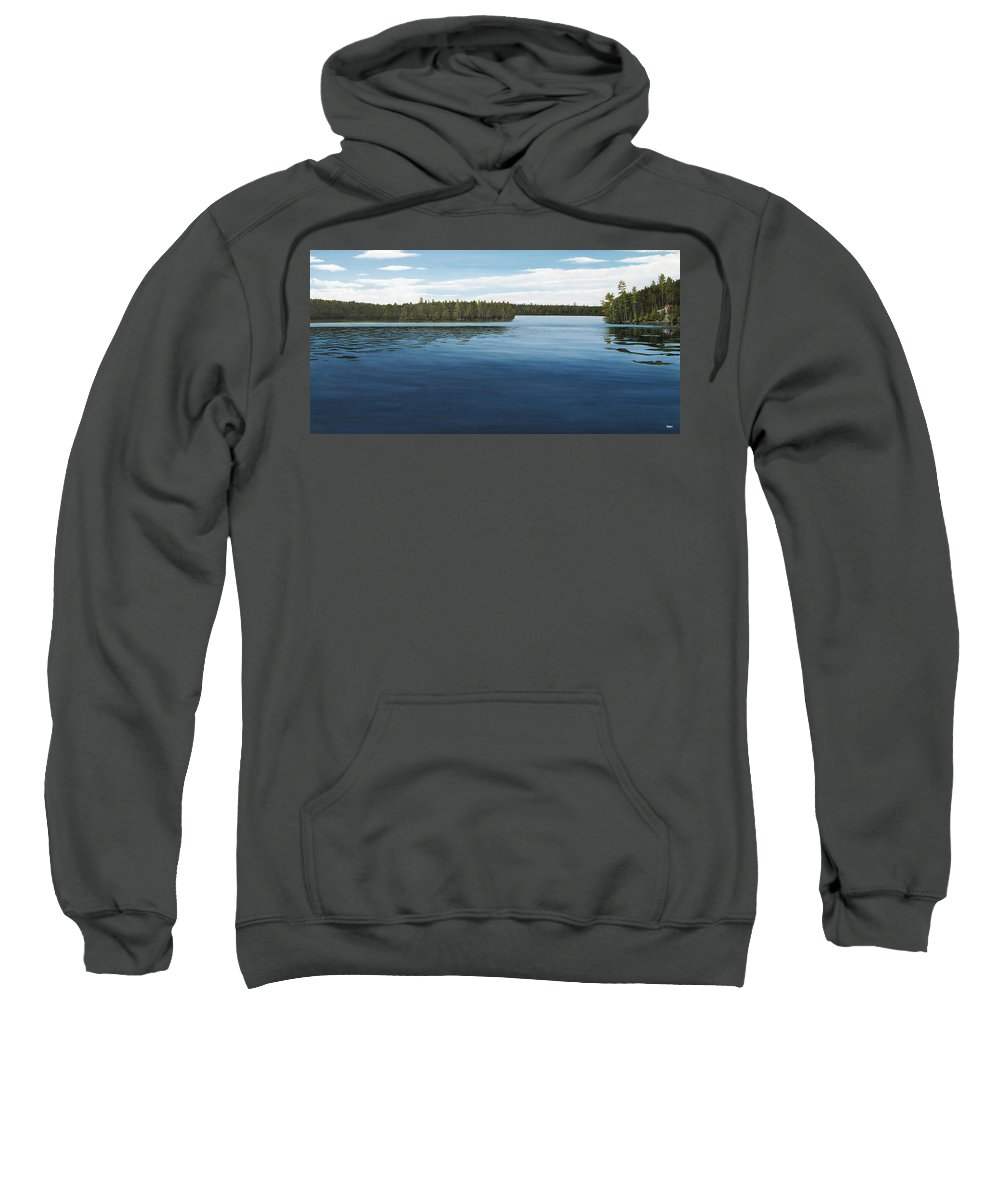 Landscapes Sweatshirt featuring the painting Skinners Bay Muskoka by Kenneth M Kirsch