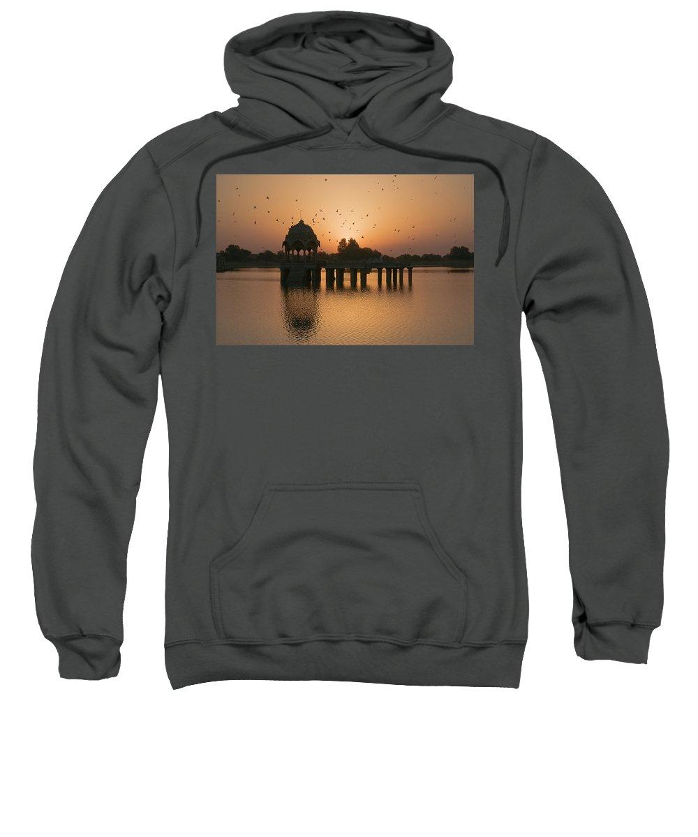 Sunrise Sweatshirt featuring the photograph Skn 1372 Sunrise Flight by Sunil Kapadia