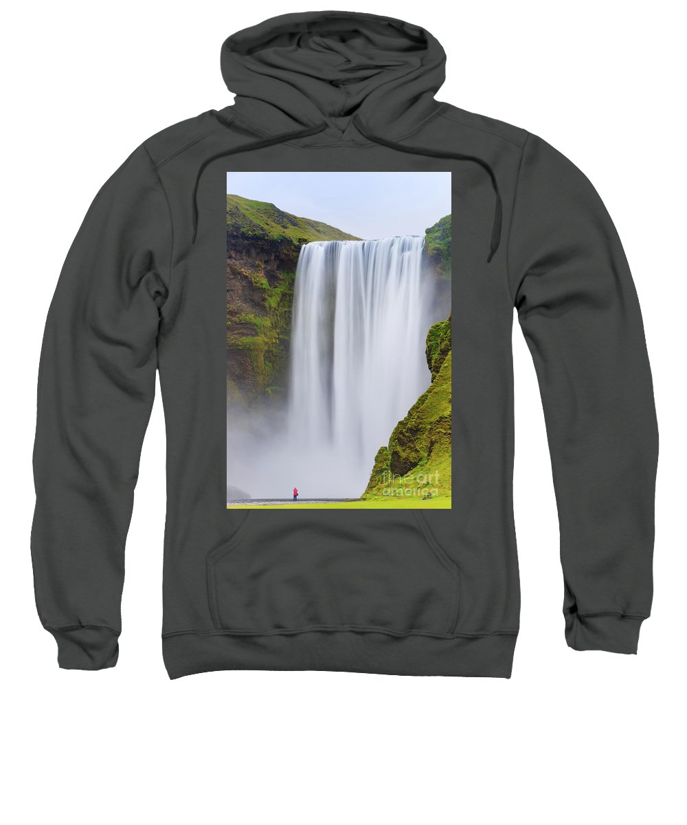 Attraction Sweatshirt featuring the photograph Skogafoss - Iceland by Henk Meijer Photography