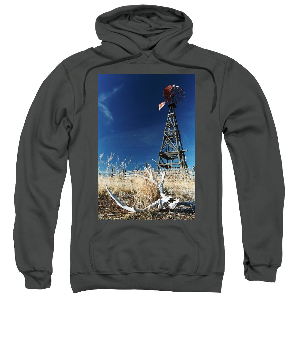 Desert Sweatshirt featuring the photograph Desert Solitaire. by Spirit Vision Photography