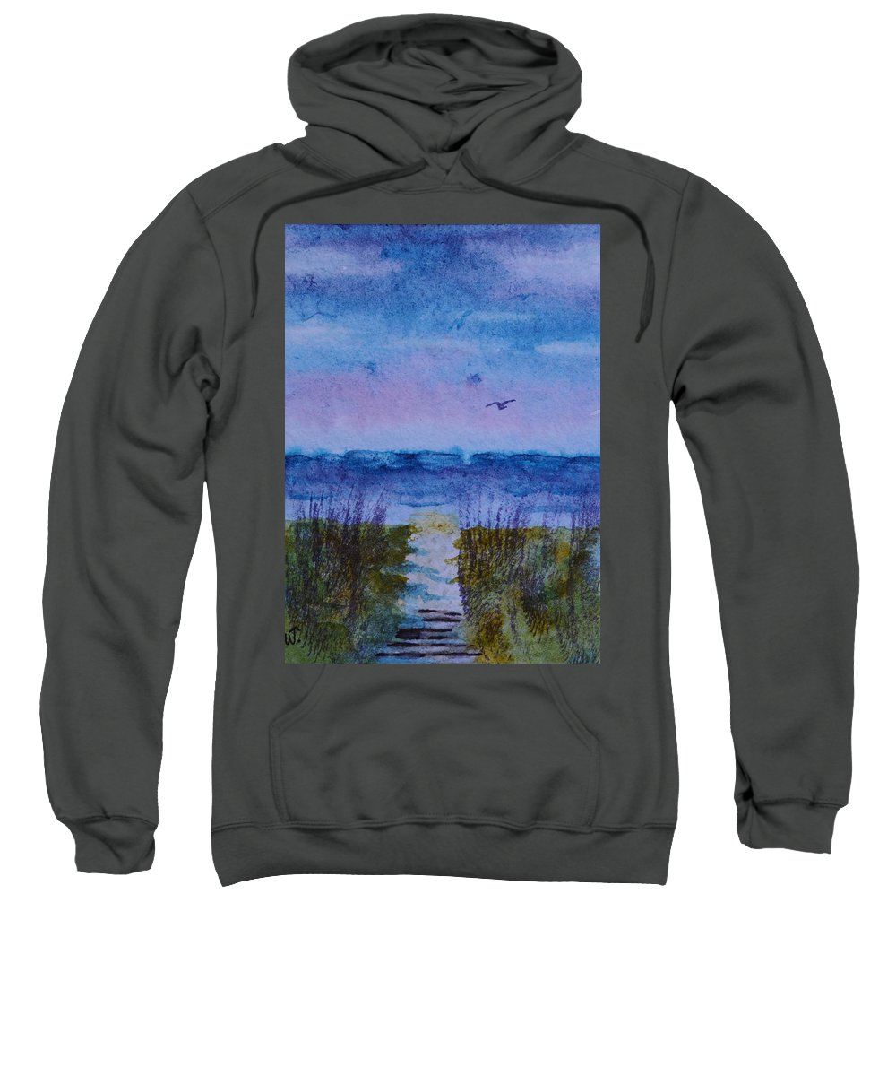 Sky Color Sweatshirt featuring the painting Sky Color by Warren Thompson