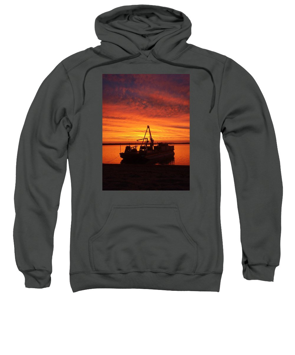 Sunset Sweatshirt featuring the photograph Sky On Fire by Mary Lynne Crispo