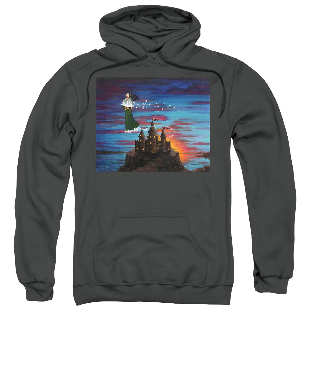 Wizard Sweatshirt featuring the digital art Sky Walker by Roz Eve