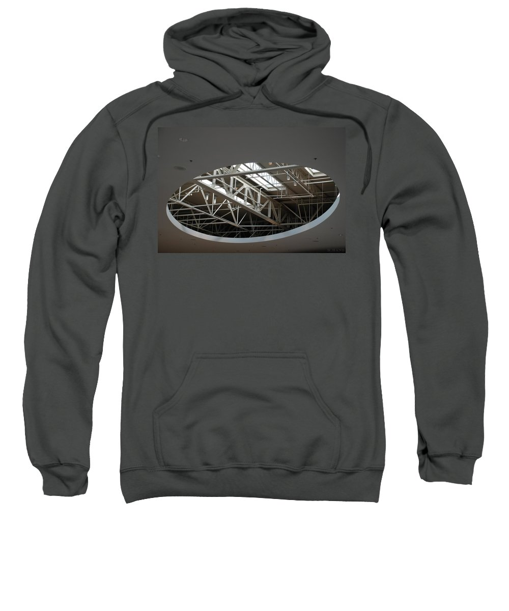 Ceiling Sweatshirt featuring the photograph Skylight Gurders by Rob Hans