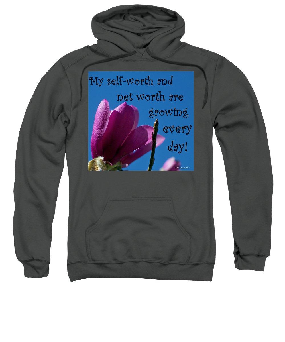 Affirmation Sweatshirt featuring the photograph Skyward Affirmation by Betty Northcutt