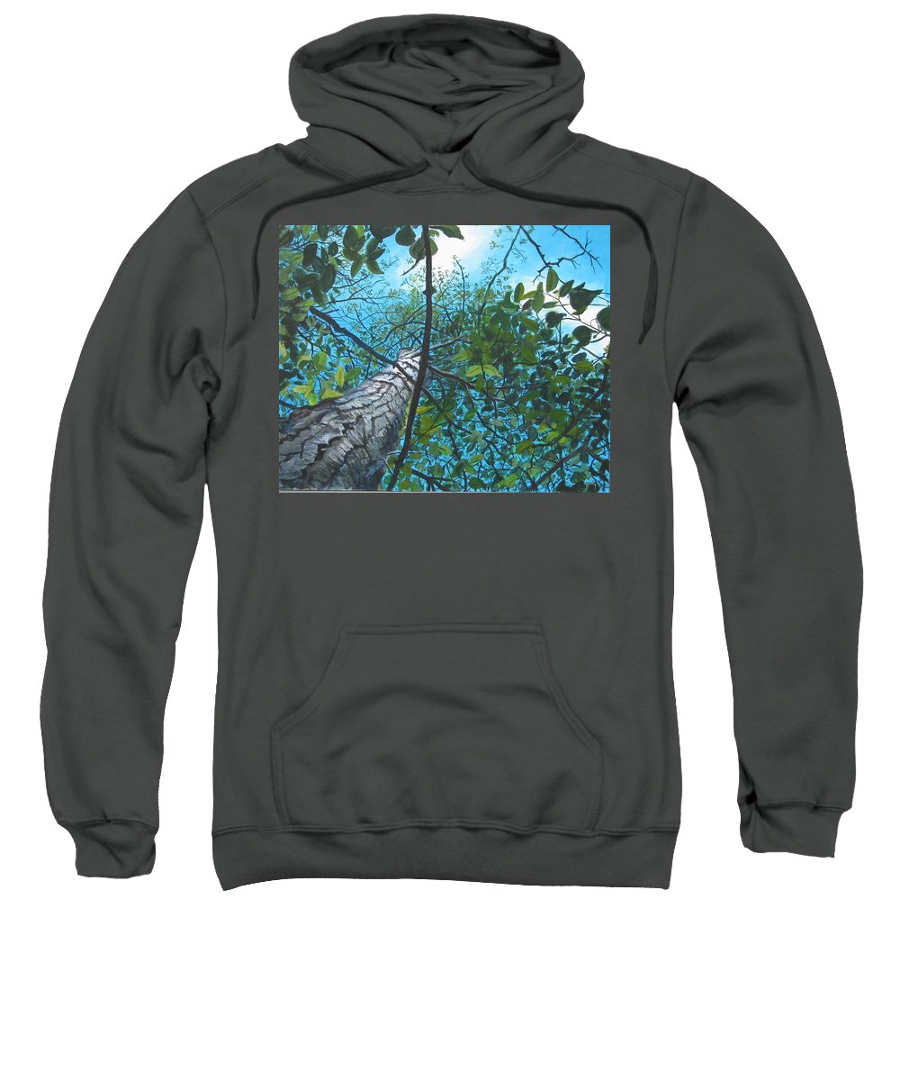 Landscape Sweatshirt featuring the painting Skyward by William Brody