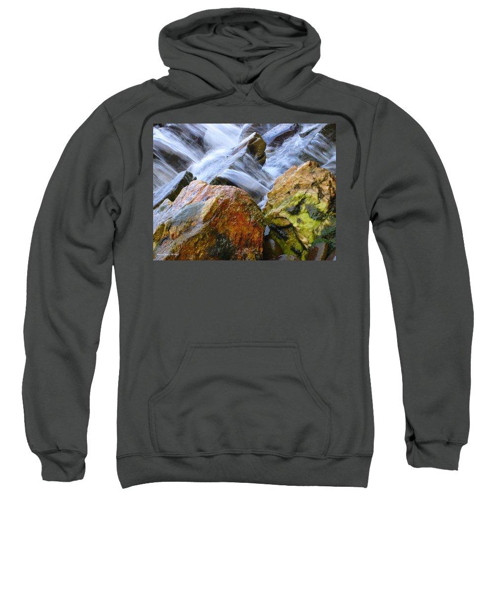 Rocks Sweatshirt featuring the photograph Slippery When Wet by Shelley Jones