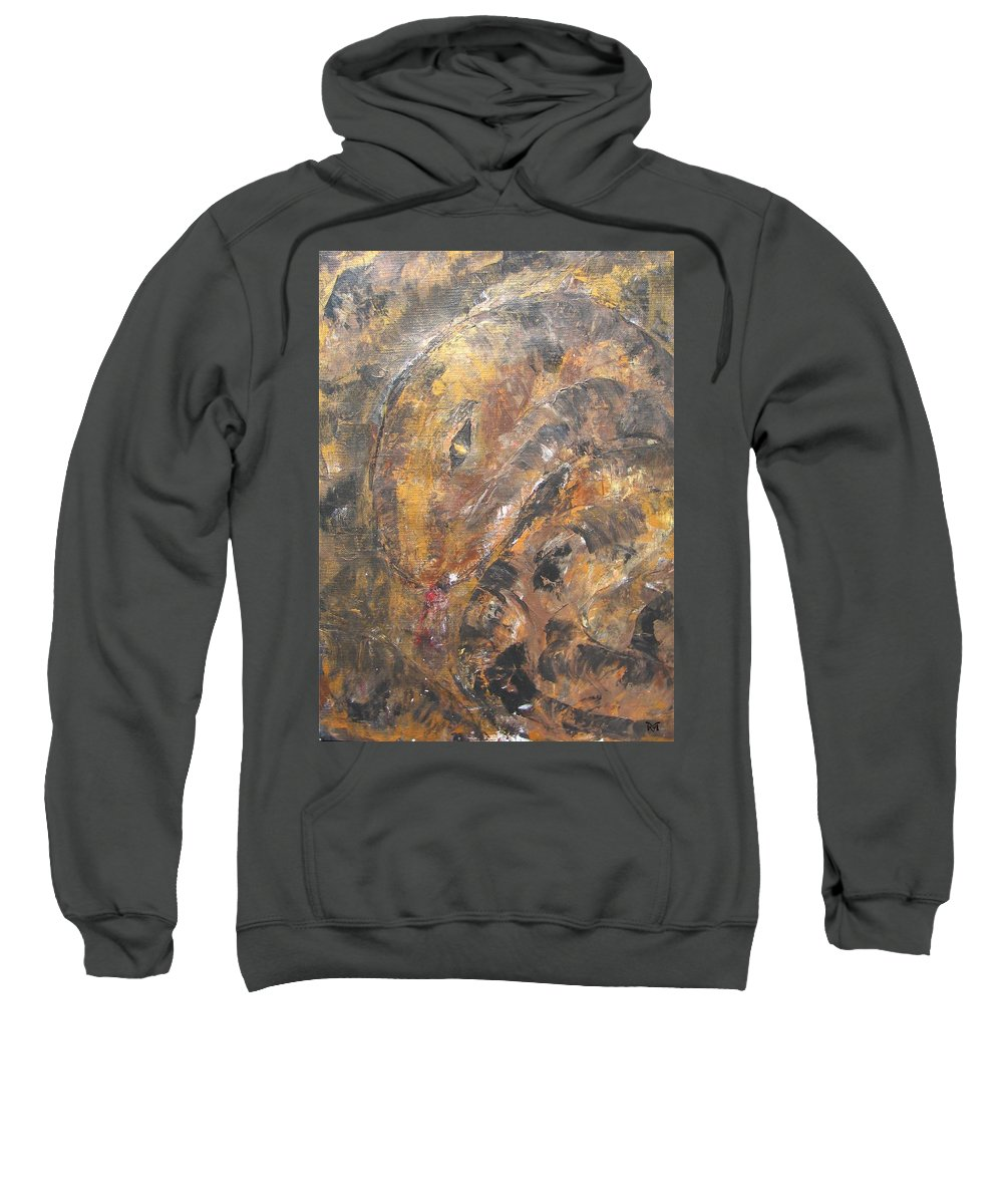 Acrylic Sweatshirt featuring the painting Slither by Maria Watt