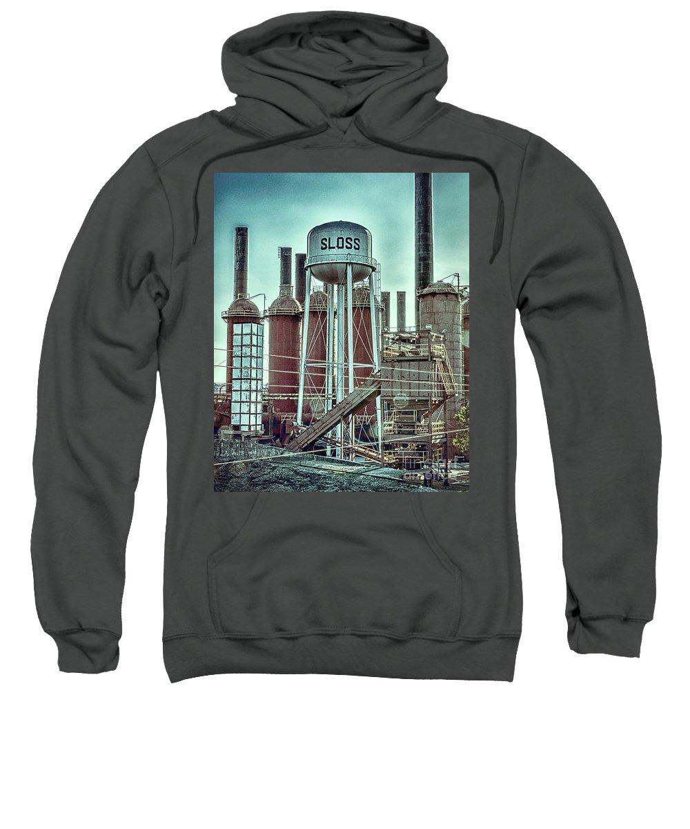 Sloss Sweatshirt featuring the photograph Sloss Furnaces Tower 3 by Ken Johnson