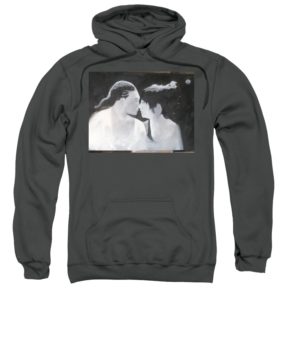 Dance Sweatshirt featuring the painting Slowly Captivated by Keith Thue