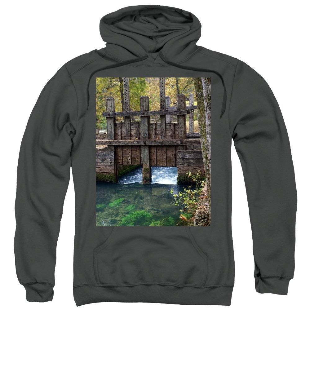 Alley Spring Sweatshirt featuring the photograph Sluce Gate by Marty Koch