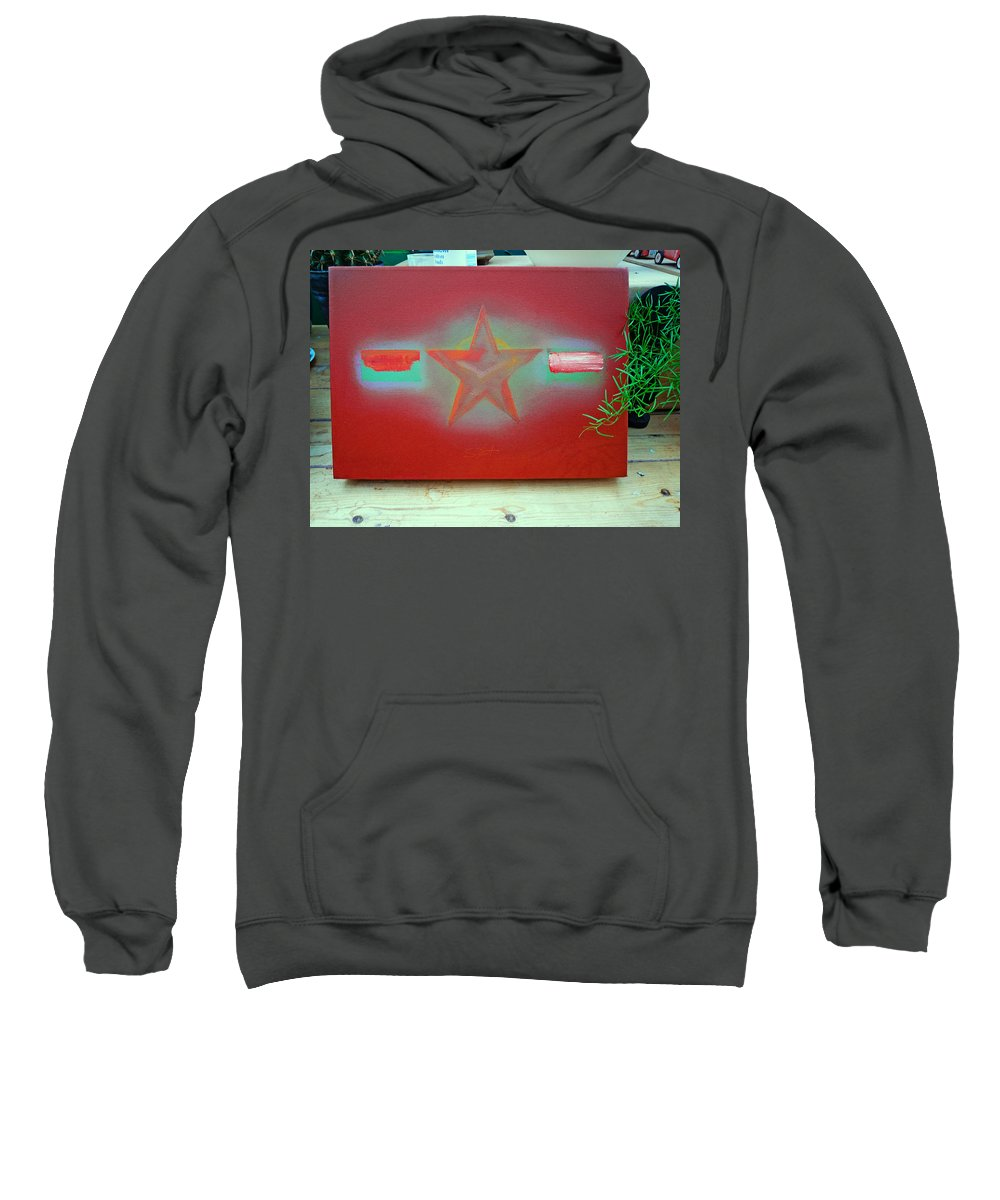 Painting Sweatshirt featuring the painting Small Canvas In The Studio by Charles Stuart