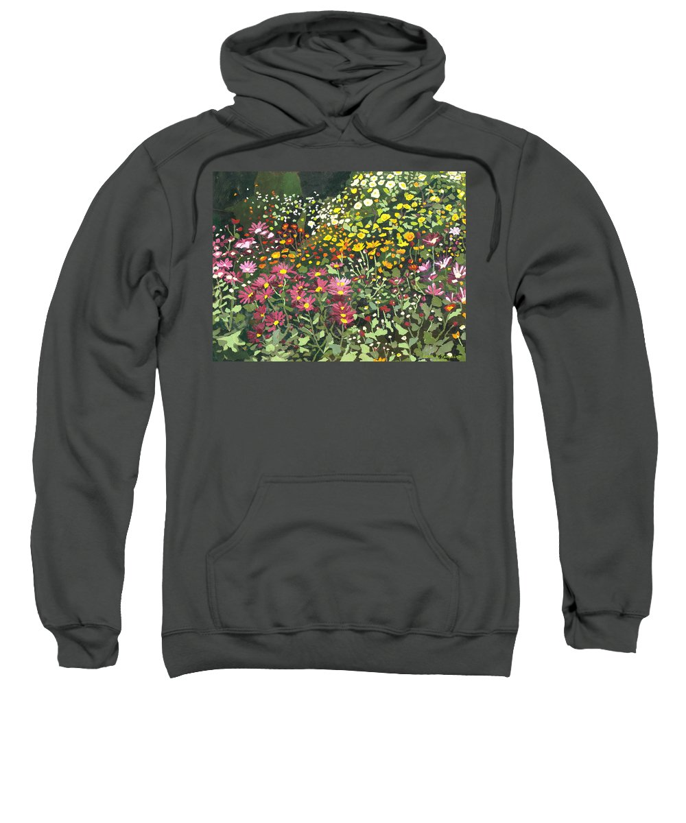 Floral Sweatshirt featuring the painting Smith Mums by Leah Tomaino
