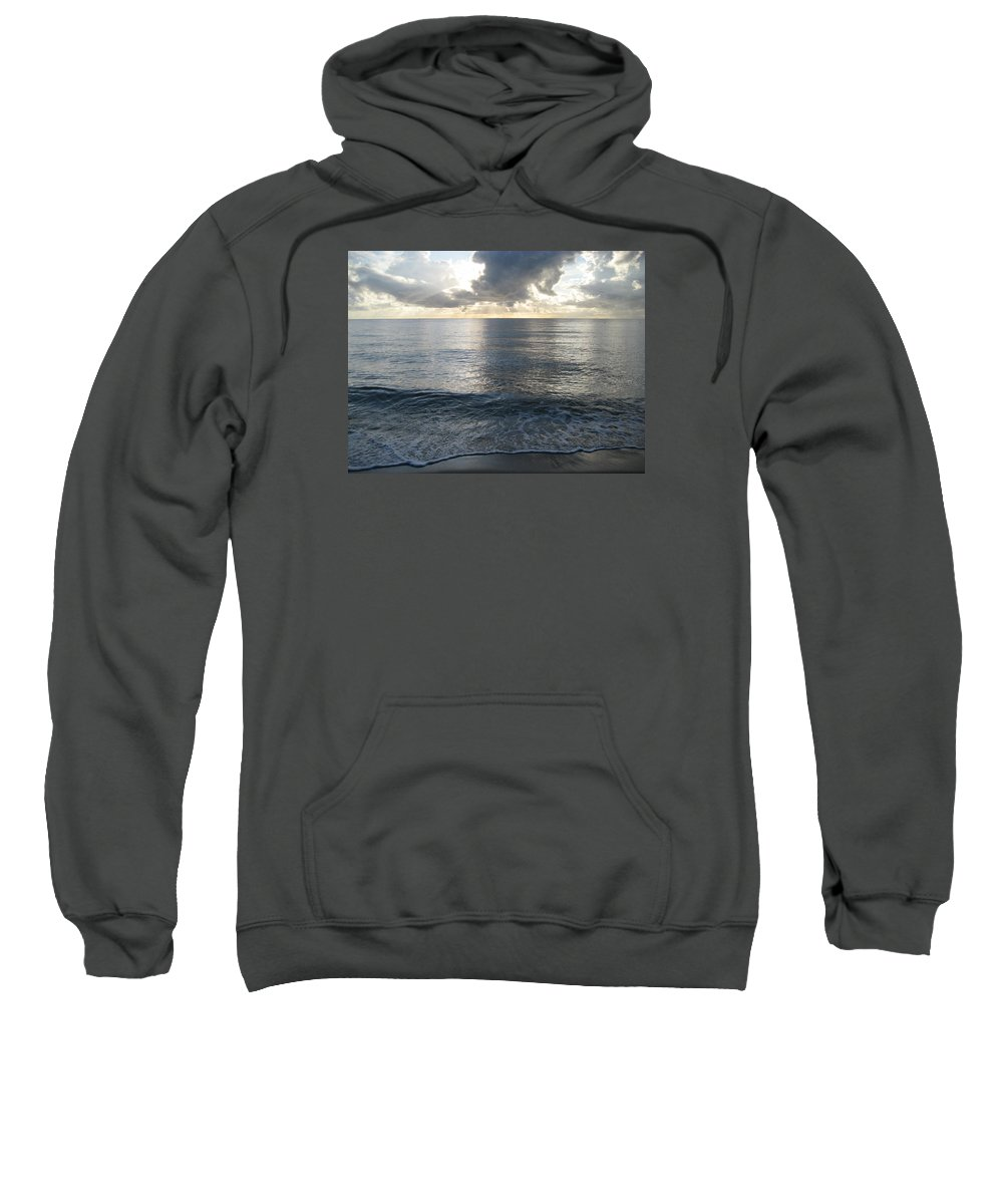 Fort Lauderdale Sweatshirt featuring the photograph Smooth Like A Mirror by Iryna Goodall