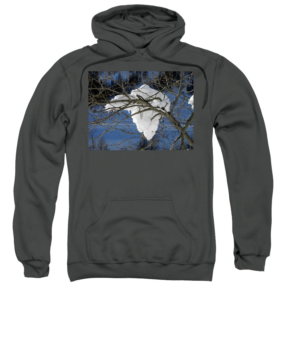 Snow Sweatshirt featuring the photograph Snow And Africa by Stefania Levi
