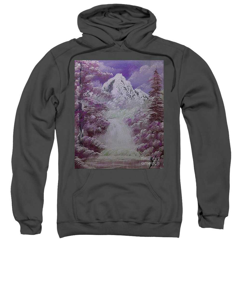 Nature Sweatshirt featuring the painting Snow Magic by Collin A Clarke